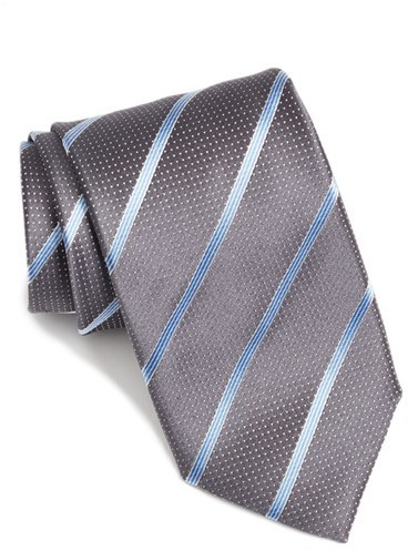 CanaliMen's Canali Stripe Silk Tie