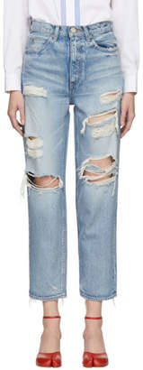 Moussy Vintage Blue Baron JW Tapered Jeans