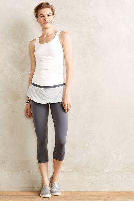 Anthropologie Pure + Good Skirted Compression Crop Leggings Grey Motif S Leggings