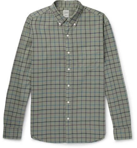 J.Crew Aiden Slim-fit Button-down Collar Checked Cotton Oxford Shirt