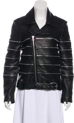 Each X Other Zip Accented Leather Moto Jacket w/ Tags