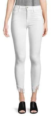 Frame Fringed Skinny Jeans