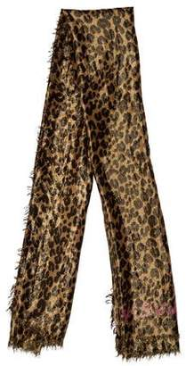 Louis Vuitton Leopard Cashmere Silk Disco Stole