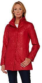 Dennis Basso Floral Quilt Detail Jacket