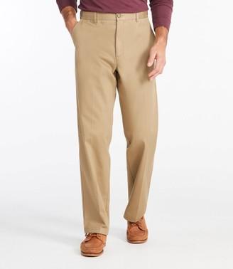 L.L. Bean L.L.Bean Men's Wrinkle-Free Double LA Chinos, Natural Fit Hidden Comfort Plain Front