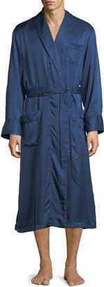 Derek Rose Woburn 8 Bengal-Stripe Silk Robe