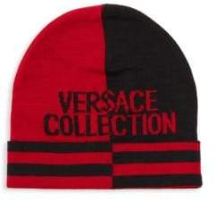 Versace Colorblock Logo Beanie