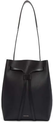 Mansur Gavriel Black Drawstring Hobo Bag