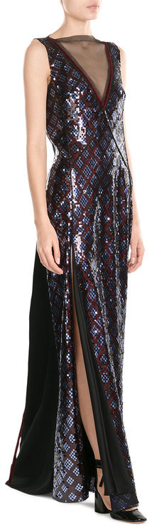 Marc Jacobs Marc Jacobs Floor Length Sequin Embellished Gown