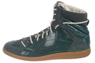 Maison Margiela Patent-Leather Replica High-Top Sneakers