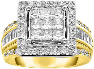 MODERN BRIDE Womens 2 CT. T.W. Genuine White Diamond 10K Gold Engagement Ring