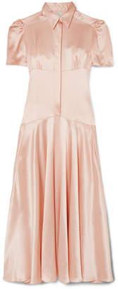 DAY Birger et Mikkelsen Hillier Bartley - Plimpton Silk-satin Midi Dress - Baby pink
