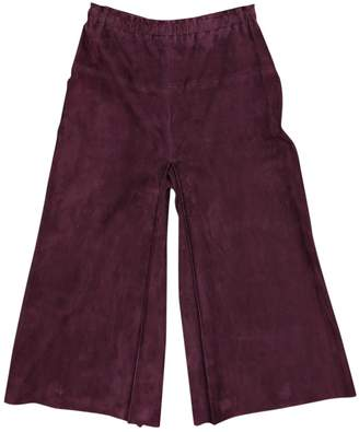 STOULS Purple Suede Shorts for Women