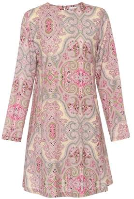 Etro Paisley-printed wool dress