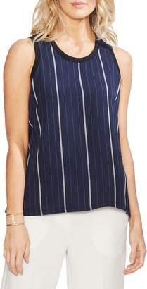 Vince Camuto Striped Mixed Media Tank