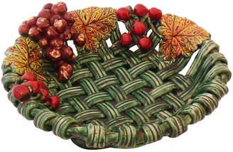 One Kings Lane Vintage Decorative Ceramic Basket Dish - C. 1960 - Thomas Brillet Inc.