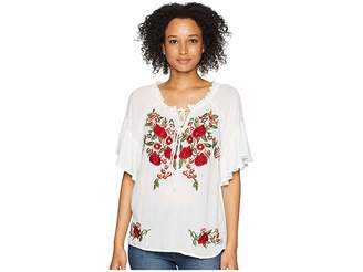 Scully Omalley Beautiful Embroidered Summer Top