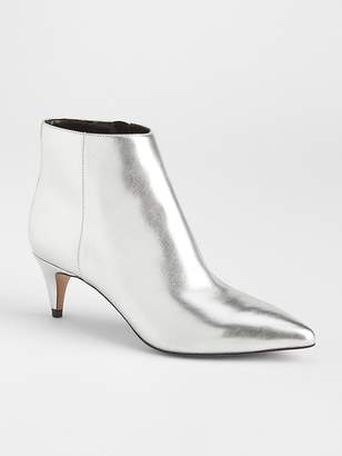Gap Metallic Kitten Heel Booties
