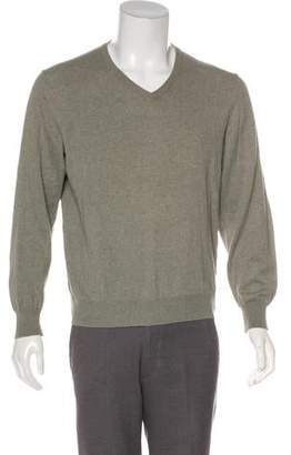 Maison Margiela Suede-Accented Sweater