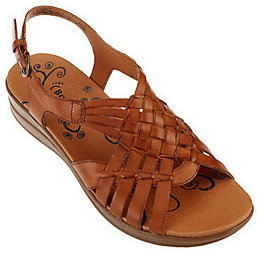 As Is BareTraps Jabber Leather Woven Sandals $15.50 thestylecure.com