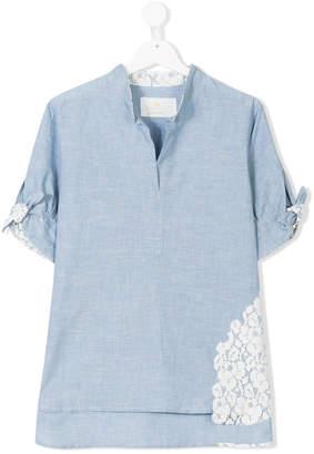 Lapin House TEEN lace insert shirt