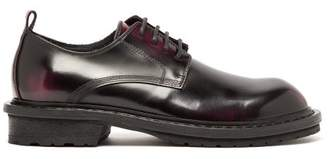 Ann Demeulemeester Polished Leather Derby Shoes - Womens - Black Red