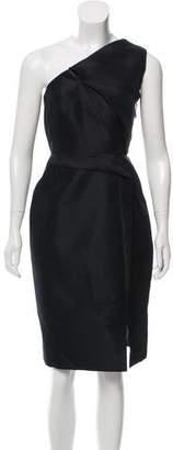 J. Mendel Silk One-Shoulder Dress