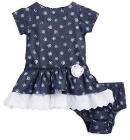 Calvin Klein Jeans Baby Girl's Floral Dress and Bloomers Two-Piece Set