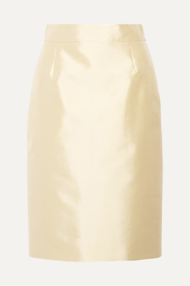 Prada Wool And Silk-blend Midi Skirt