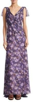 Carolina Herrera Floral-Print Silk Gown