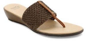 Andre Assous Nima Woven Demi-Wedge Sandals $99 thestylecure.com