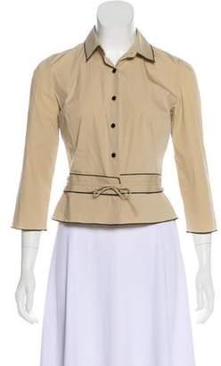 Paule Ka Tie-Front Button-Up Top