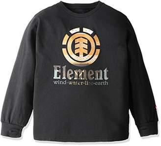 Element (エレメント) - (エレメント) ELEMENT 子供用 長袖 プリントTシャツ (USAコットン採用) 【 AG026-050/SERRAPE VERTICAL BOY 】 AG026-050 BLK BLK 130