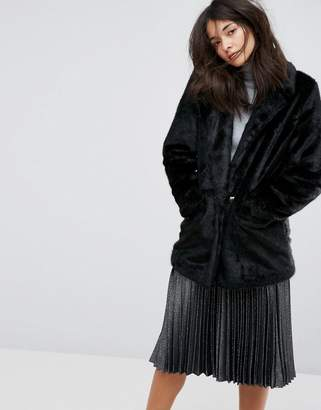 Urban Code Urbancode Oversized Faux Fur Coat