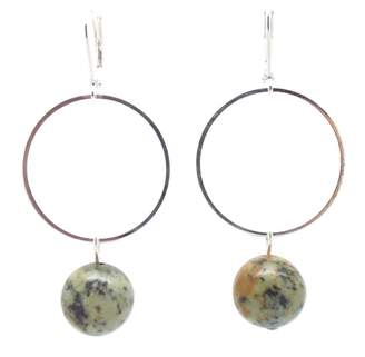 SALOME - Silver Plated African Turquoise Lorna Drop Earrings