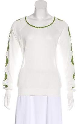 Tory Burch Long Sleeve Scoop Neck Top