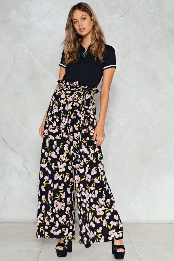 nastygal Hit It Big Floral Pants
