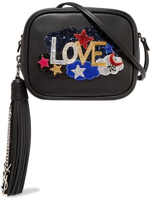 Saint Laurent - Monogramme Blogger Appliquéd Leather Shoulder Bag - Black $1,150 thestylecure.com