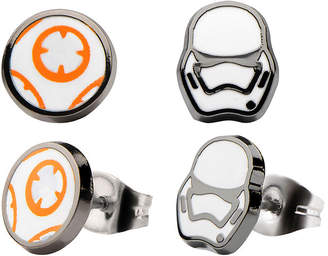 FINE JEWELRY Star Wars Stainless Steel BB-8 Storm Trooper 2-pr. Stud Earring Set