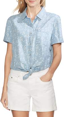 Vince Camuto Floral Tie Front Top