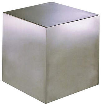 One Kings Lane Cubix Side Table - Brushed Metal