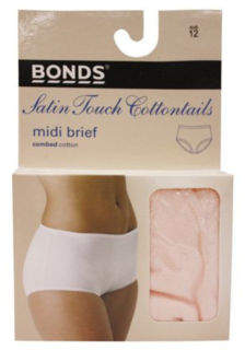 Bonds NEW 'Cottontails' Satin Touch Full Brief 1012 Natural