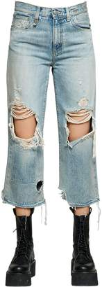 R 13 Camille Destroyed Cotton Denim Jeans