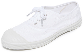 Bensimon Tennis Broderie Anglaise Lacet Sneakers $70 thestylecure.com