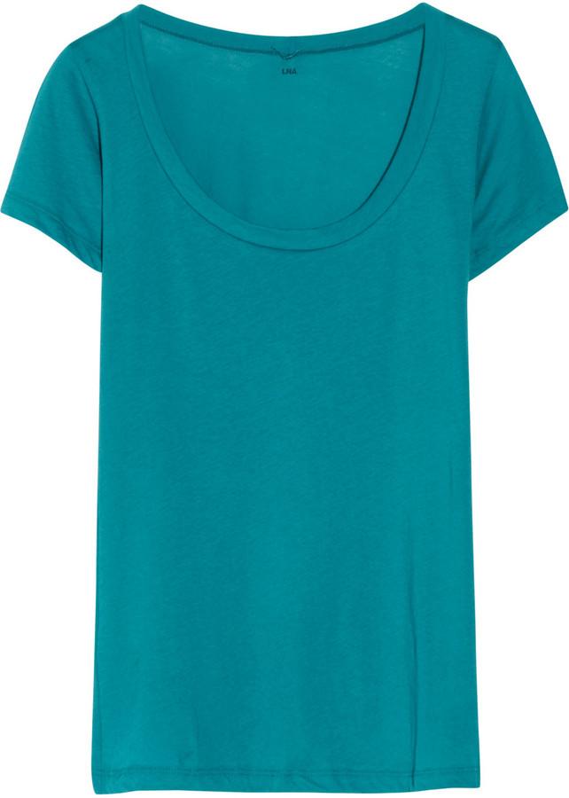 LnA Cotton-jersey T-shirt