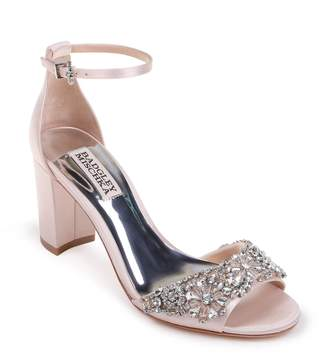Badgley Mischka Collection Hines Embellished Block Heel Sandal