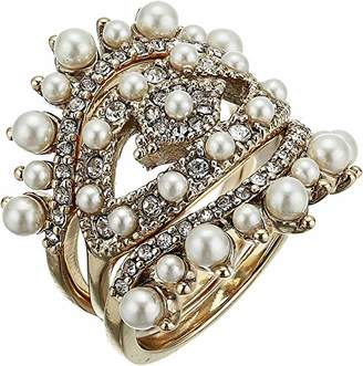 Marchesa Women's White 3 Pc Stack Rings