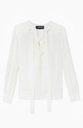 Derek Lam Lace Up Blouse $890 thestylecure.com