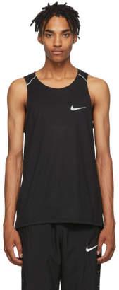 Nike Black Rise 365 Running Tank Top