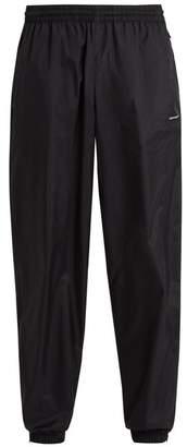 Balenciaga - Lightweight Logo Print Track Pants - Mens - Black